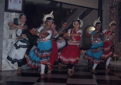A performance of traditional Odissi dance