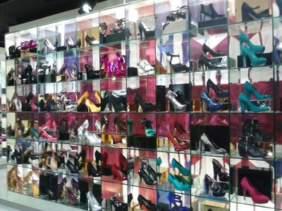 The breathtaking shoe display at Topshop
