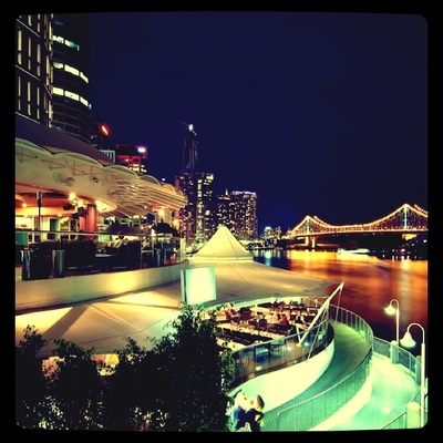 180 degree views of Brisbane River