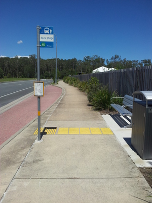 Sunshine Coast bus stop