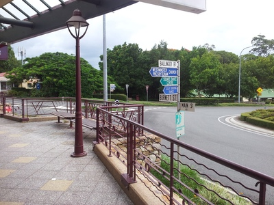 Buderim's Main Street and Burnett Street