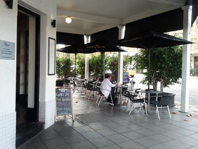 The Astor outdoor dining area