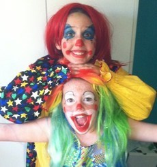 Most people dressed as clowns