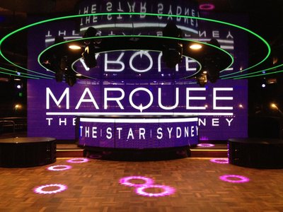 Marquee Sydney's projection stage in the Main Room