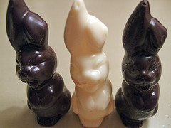 Chocolate Easter bunnies may be cute, but don't let that stop you from eating them.