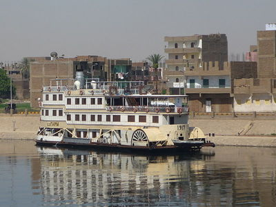 Cruise ship at Edfu, Egypt