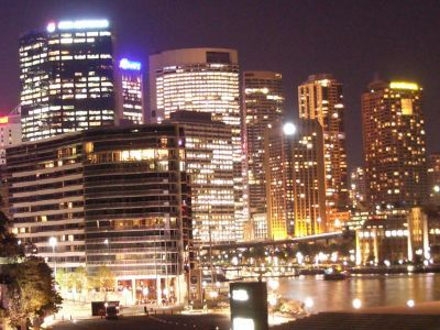 Sydney city at night
