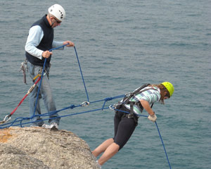 Forward Running Abseiling The Bluff