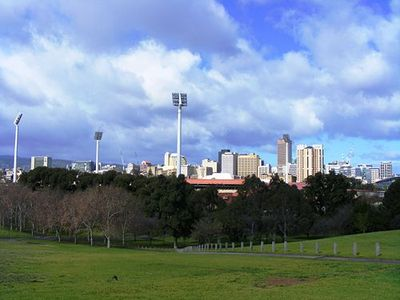 Adelaide Oval and Adelaide Skyline