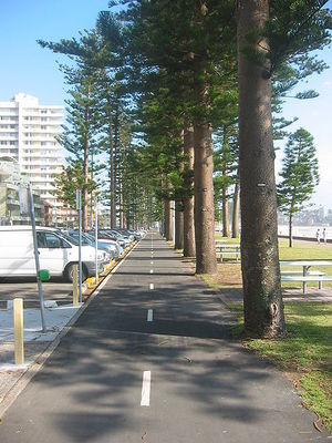 Cycle path Manly beach