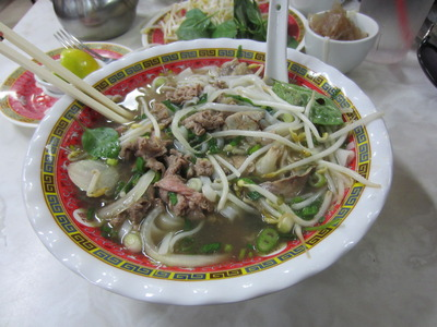 The beef pho at Pho Tau Bay Restaurant.