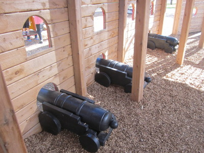 Cannons on Pirate Ship
