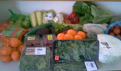 Bargin Fruit and Vegetables at your local fruit shop.