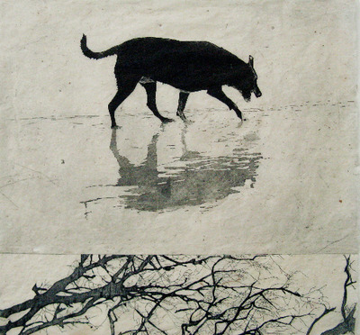 Christine Willcocks, Sighting the Object, 2011, two plate etching on handmade paper, 52cm x 54cm