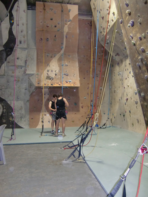 Rock climbing at The Hangout 2