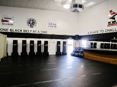 Inside the Martial Arts Studio of Challenge Fitness Centre