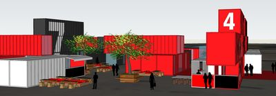 The Melbourne Flea shipping containers