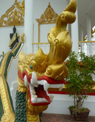 A dragon protecting the Wat Phrayortkeo Dhammayanaram temple