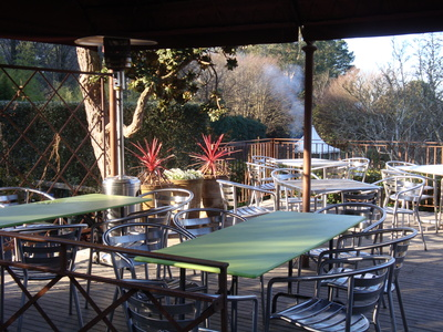 Deck at Cloudehill restaurant by Sue Williams