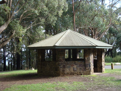 Picnic shelter at One Tree Hill