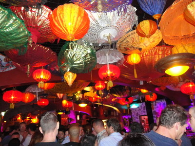 Lantern Ceiling in Tiger Lil's
