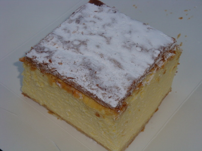 The perfect vanilla slice moments before it...disappeared