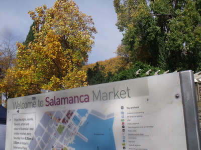 Entry to Salamanca Market