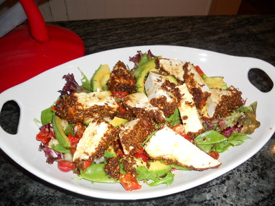 Nutty-crusted ricotta salad