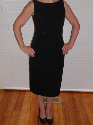 Plain black sheath dress