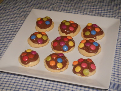 Melted Easter Egg Covered Biscuits