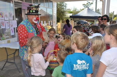 children's entertainment at last year's Corso Street Party