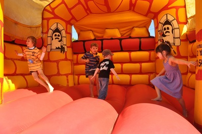 Last year's jumping castle