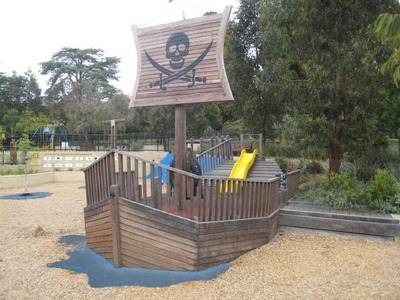 Pirate Ship at Geelong Play Space