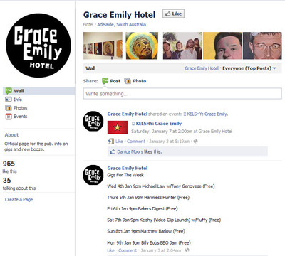 Grace Emily Facebook page