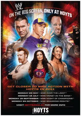 WWE live at Hoyts cinemas