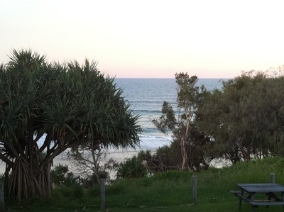 View from the surf club