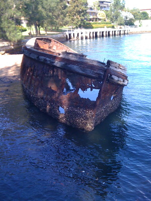 Shipwreck at Sawmiller Reserve