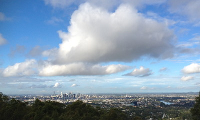 Brisbane CBD from Mt Coot-tha Lookout