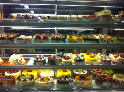 A selection of cakes from Breadtop @ QV Melbourne
