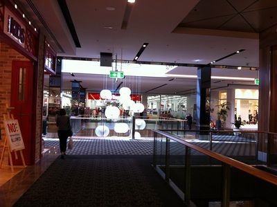Looking down one of the new corridors at Carindale towards Target
