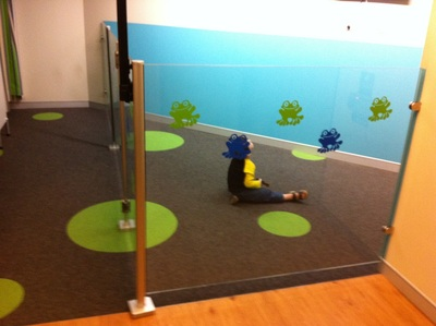 the less than impressive children's area in the new baby change rooms