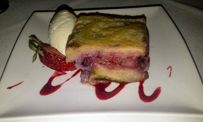 Mixed berry bread and butter pudding