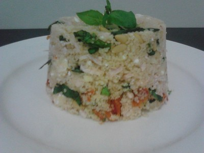 Chicken, Basil and Sun Dried Tomato CousCous