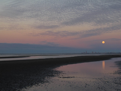 Moonrise from Nudgee Beach