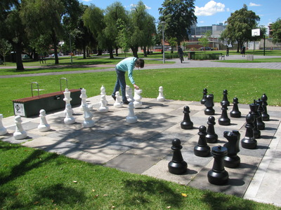 Giant chess in Whitmore Square