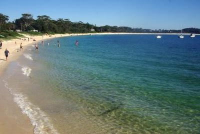 Swimming at Nelson Bay