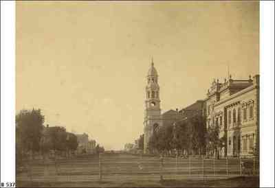 King William St 1867, courtesy of State Library of South Australia (B537)