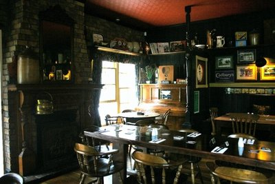 Inside the Fox and Hounds- the English end
