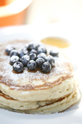 Ricotta Pancakes with Blueberrys