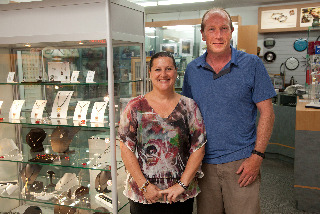 Manager Fausta and Owner Mike at Melville Jewellers
